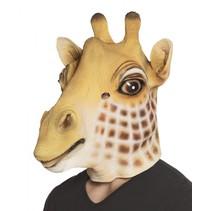 verkleedmasker Giraffe unisex lichtbruin one size