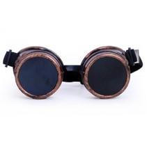 bril Steampunk unisex zwart/goud one size