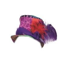 hoed dierenprint met veren unisex