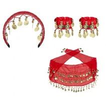 Gypsy set dames rood/goud