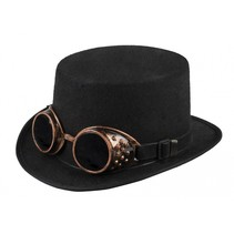 hoed Steamgoggles unisex zwart