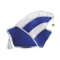 hoed Comite heren blauw/wit