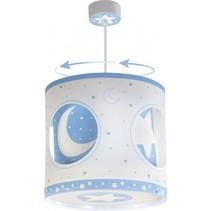 hanglamp draaiend Moonlight 26,5 cm blauw