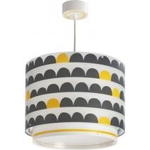hanglamp Wonder 26 cm wit/zwart/geel