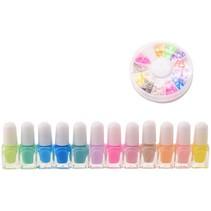 Isabella nagellakset 12-delig meisjes mutlicolor