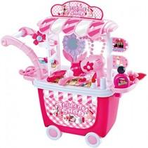 Schoonheidssalon speelgoed trolley 26-delig