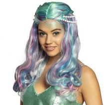 pruik Sea pearl zeemeermin dames multicolor one size