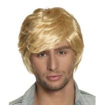 pruik Tyler heren blond