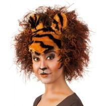pruik Wild Tiger dames bruin
