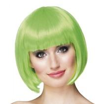 pruik Cabaret dames groen