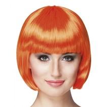 pruik Cabaret dames oranje