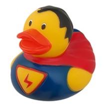 badeend superman 9 cm blauw geel