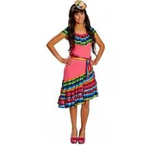 verkleedkostuum Mexicaan dames multicolor