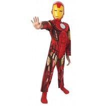 kinderkostuum Marvel - Iron Man jongens rood