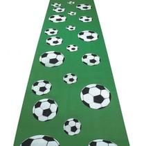 voetbal loper 450 x 60 cm groen