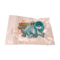 kaleidoscoop Dino blauw 10 x 10 cm