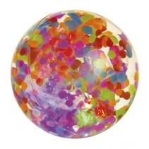 stuiterbal met licht Confetti 6,5 cm