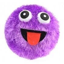 opblaasbaar fuzzy smiley gezicht 23 cm paars