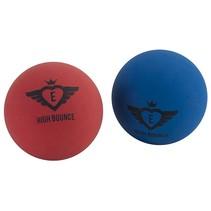 High Bounce ballen 6 cm blauw/rood 2 stuks