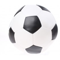 voetbal zwart 15 cm