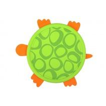 frisbee 21,5 cm schildpad groen/oranje