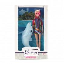Lauren tienerpop met dolfijn