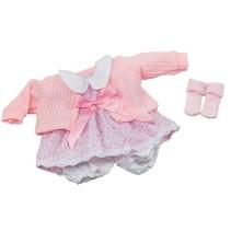 kledingset babypop 30 cm lichtroze