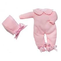 kledingset babypop 30 cm roze