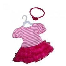 jurk met tule rok mini mommy roze meisjes 33-37 cm