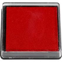 inktkussen 40 x 40 mm rood