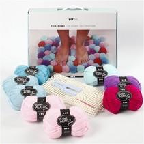 DIY pom-pom set multicolor