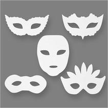 theatermaskers h: 8,5-19 cm b: 15-20,5 cm