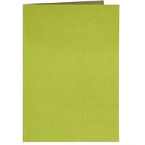 kaarten leatherlook 10,5 x 15 cm set 10 stuks lime/donkergroen
