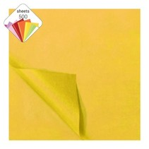 zijdevloeipapier 500 vellen 50 x 70 cm geel