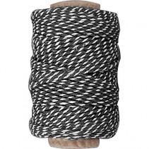 gestreept koord zwart 50 meter
