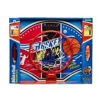 basketbalset 2-delig rood/wit/blauw