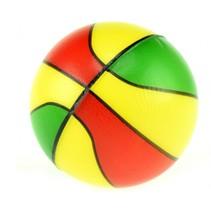 mini basketbal rood/geel/groen 6 cm