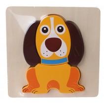 houten vormenpuzzel hond 5-delig