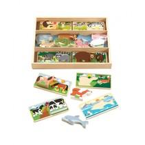 houten vormenpuzzel 16 dieren