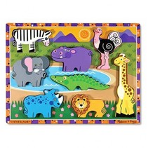 Safari Chunky puzzel 8-delig