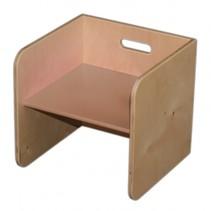kubusstoel 32 cm blank