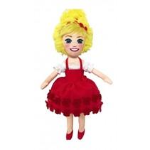 knuffelpop 33 cm rood