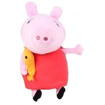 knuffel Peppa pluche rood 25 cm