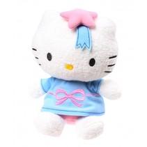 Glow In The Dark Hello Kitty knuffel lichtblauw 22 cm
