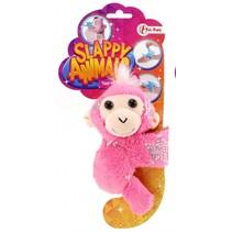 pluche klaparmband aap roze