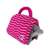 dolfijn met tas roze 34 cm
