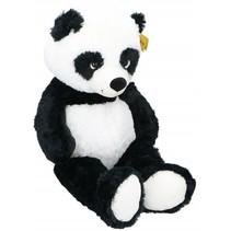 knuffeldier Panda pluche junior 100 cm zwart/wit
