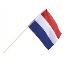 zwaaivlag Nederland 30 x 45 cm rood/wit/blauw