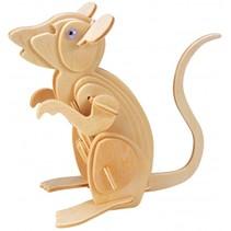 bouwpakket houten muis 25-delig