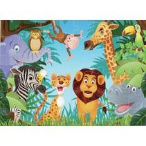 vloerpuzzel jungle 48 stukjes
